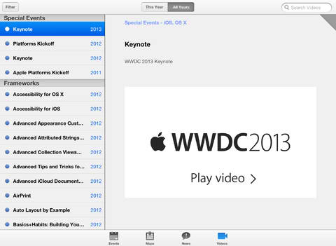 With Just 3 Days To Go, Apple Updates Official WWDC 2013 App With Various Bug Fixes