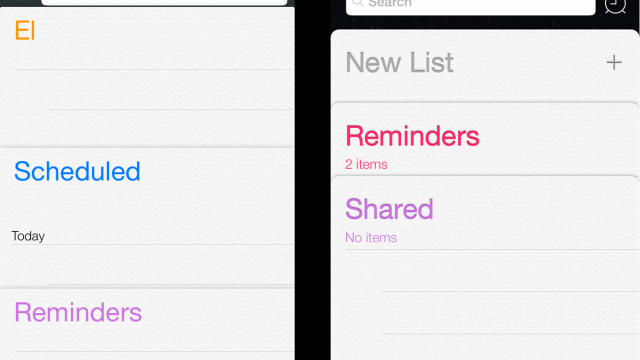 Apple Changes The Reminders App In Second iOS 7 Beta