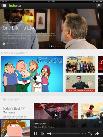 Hulu Plus Update Brings New Experience To The iPad