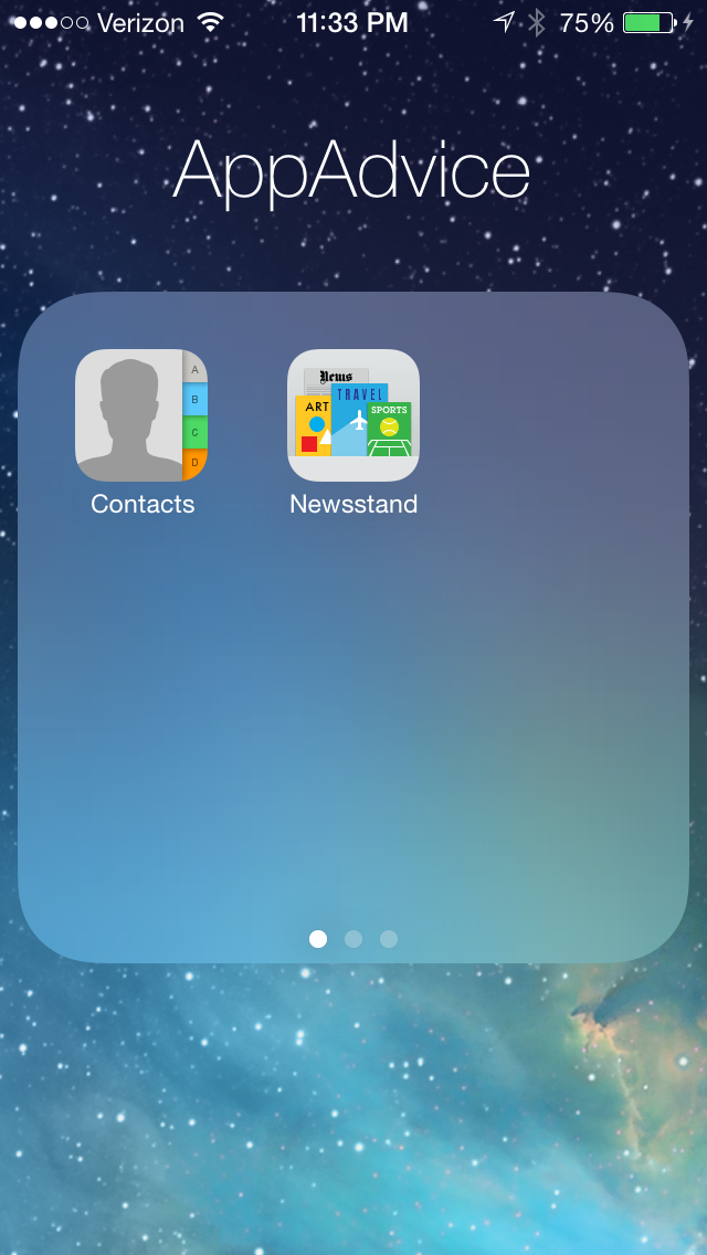 Hands-On Video: Create Multiple Pages And Put Newsstand In A Folder In iOS 7