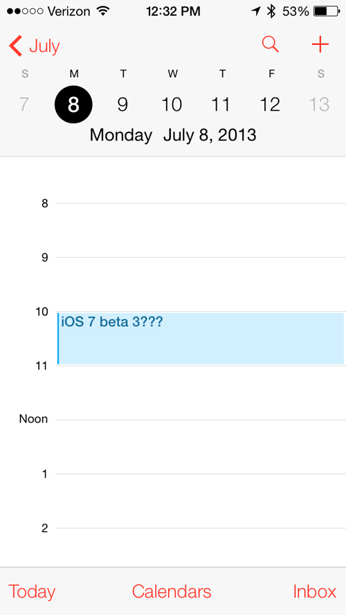 Apple Will Reportedly Release iOS 7 Beta 3 On July 8