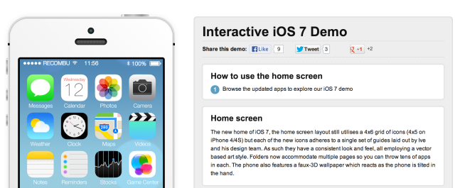 Want To Try iOS 7 Beta Yourself? Check Out This Interactive Demo