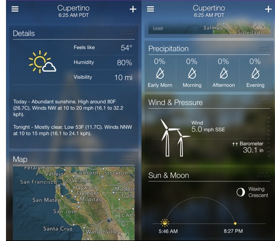 More features in Yahoo Weather