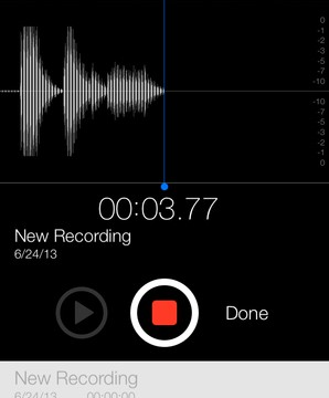 Voice Memos Returns In iOS 7 Beta 2