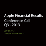 Apple To Announce Q3 2013 Financial Results Via Conference Call On July 23