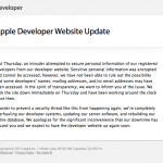 Security Researcher May Be The 'Intruder' Behind Apple's Developer Center Shutdown