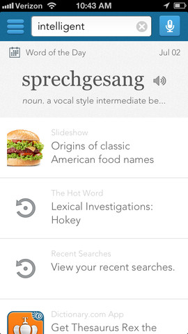 Dictionary.com For iPhone Gets New Interface, Rhyming Words Collection And More