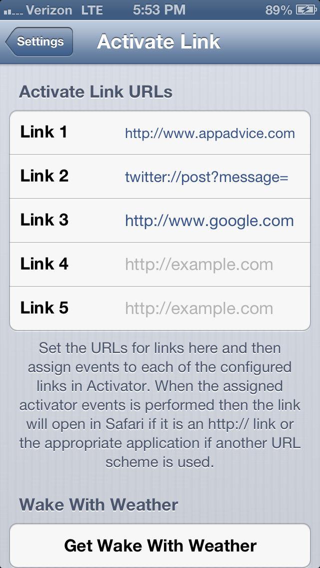 Cydia Tweak: How To Launch Web Pages With An Activator Action
