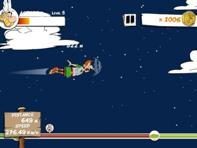 Send The Roman Flying As Far As You Can In Asterix: MegaSlap For iOS