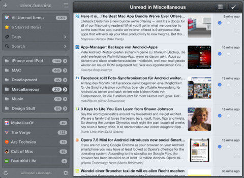 Mr. Reader Updated With More Improvements In Support Of Google Reader Alternatives