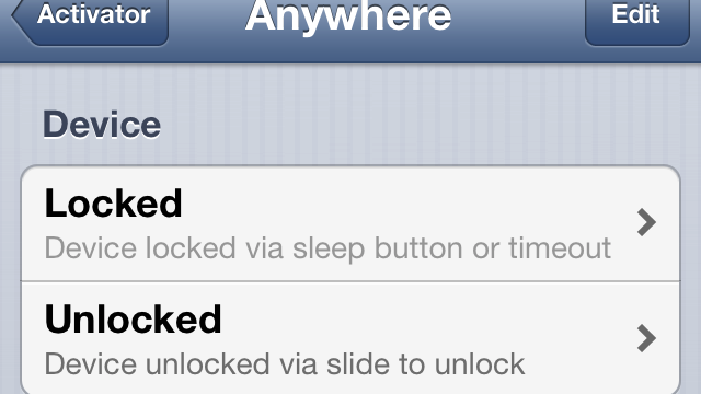 Cydia Tweak: UnlockEvents Helps Expand Activator's Functionality