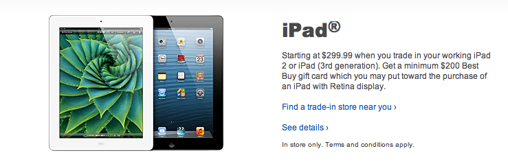 Best Buy Launches Enhanced iPad Trade-In Program With $200 Gift Cards
