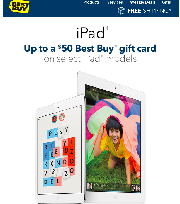Best Buy Now Offering Gift Cards To Move iPad Inventory