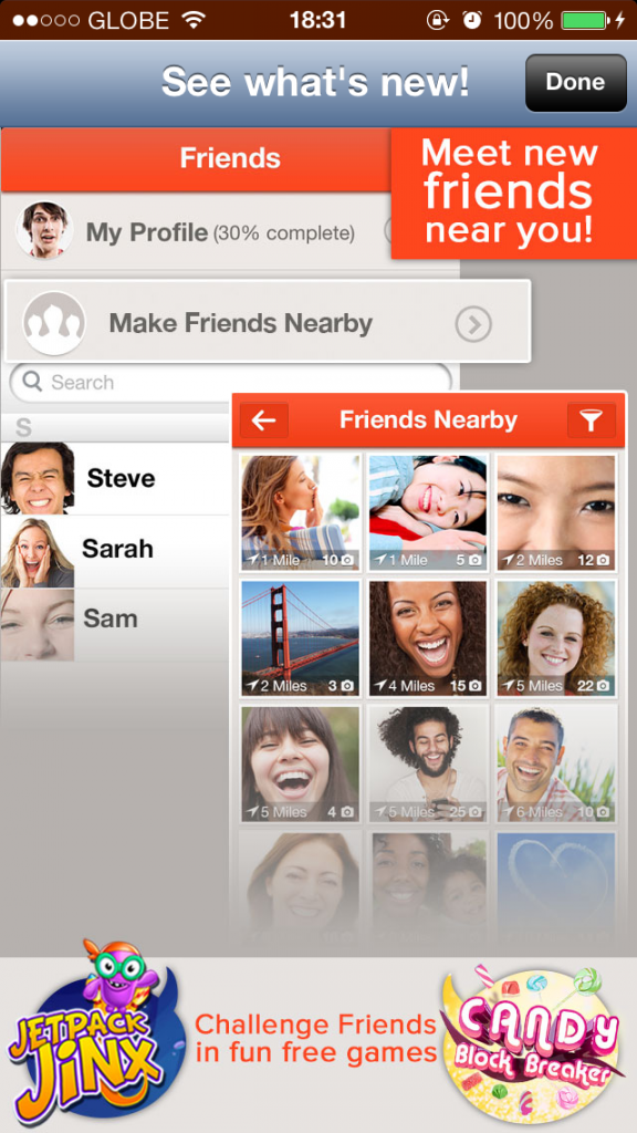 Tango Messaging App Updated With Profile Creation, Nearby User Search And More