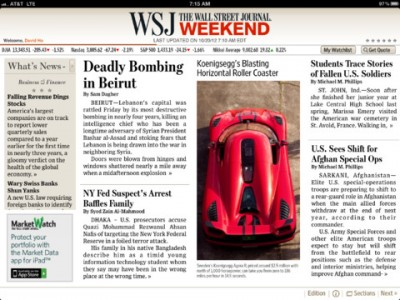 The Wall Street Journal For iPhone And iPad Gains Article Search Functionality