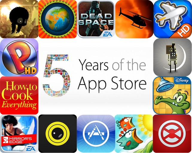 All Of The Paid Apps That Went Free For The App Store's Fifth Anniversary