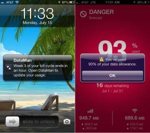 DataMan Next version 6.5 (iPhone 5) - Push Notifications