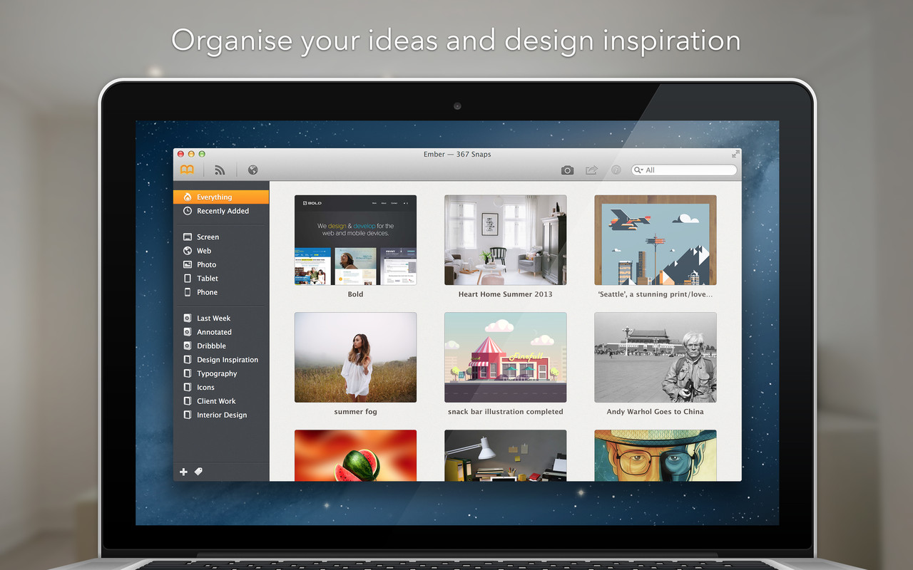 Keep All Of Your Design Inspirations In One Place On Your Mac With Ember
