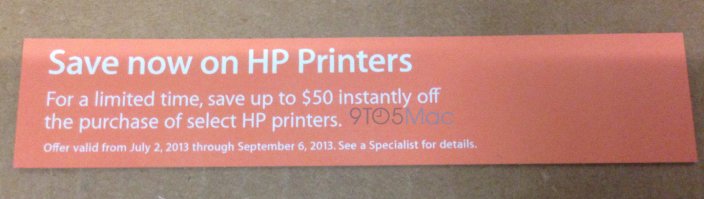 Apple To Offer $50 Discounts On Select Printers Beginning Tomorrow, July 9