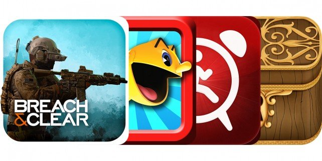 Today's Best Apps: Breach & Clear, Pac-Man Dash, Walk Up Alarm Clock And More