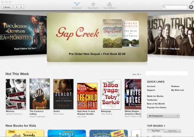 iBooks on OS X Mavericks