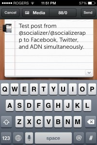 Quickly Post To Facebook, Twitter And App.net Using Socializer