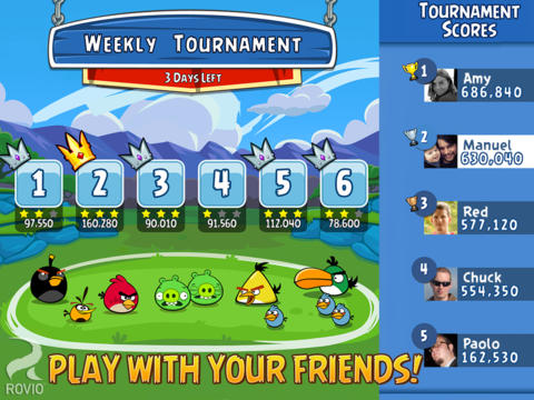 Angry Birds Friends Updated With Toons Channel And Support For Special Tourneys