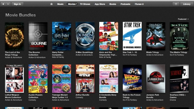 Go Get 'Em: Apple Offering Rare iTunes Sale On Movie Bundles