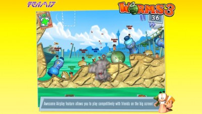 Team17's Worms 3 Blasts Into The App Store: Available Now For iOS