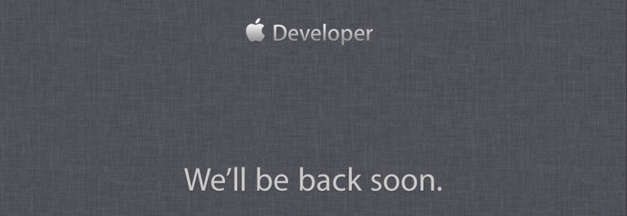 Don't Panic: Apple's Developer Services To Briefly Go Offline Today