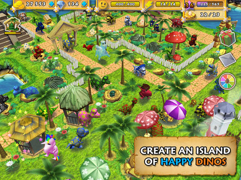Collect, Breed, Tame And Train Happy Dinos To Build A Jurassic Paradise
