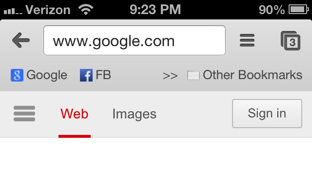 Cydia Tweak: Give Chrome For iOS A Bookmarks Bar With BMarks Bar - Chrome