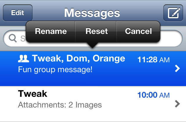 Cydia Tweak: MessageRenamer Allows You To Change The Name Of Any Conversation