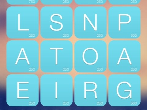 Find As Many Words As Possible In Tap Words For iPhone