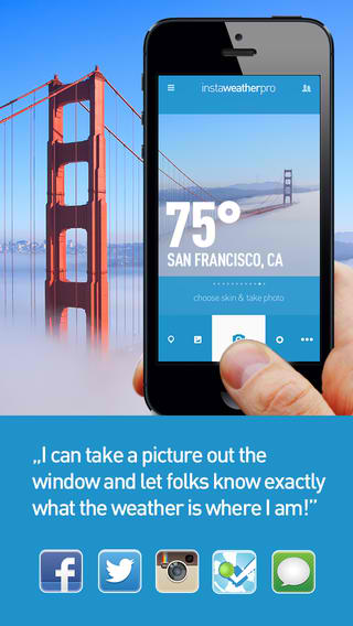 Share The Weather Forecast In Your Location With InstaWeather Pro's New Skins
