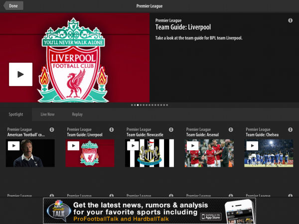Score! NBC Sports Live Extra App To Stream Every English Premier League Match In US
