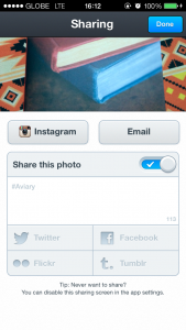 Finally, Photo Editor By Aviary Now Lets You Share Photos Via Email And Instagram