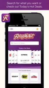 RetailMeNot Coupons 3.0 Features New UI Design, Favorite Stores And More