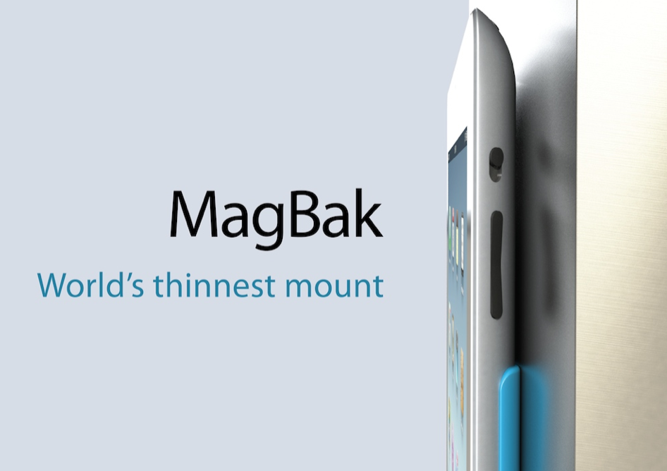 MagBak Preview: Hands-On With The World's Thinnest iPad Mount