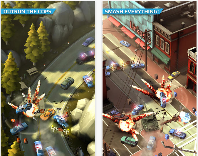 Smash Bandits Crashes Into The US App Store: Offers The Best Of GTA For iOS