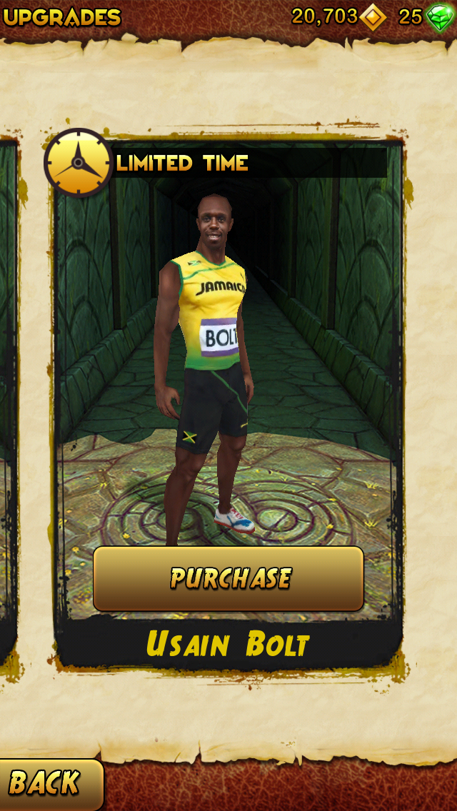 You Can Now Play As Usain Bolt, The Fastest Man On Earth, In Temple Run 2
