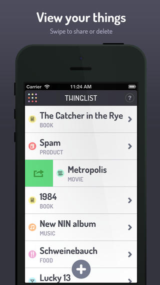 Thinglist 'Want To-Do' App Now Lets You Easily Share Your Things With Others