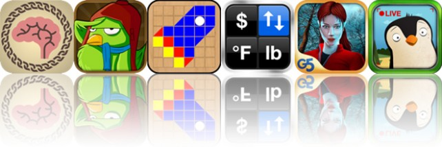 Today's Apps Gone Free: Brain Chain, Flyro, Make-A-Mosaic And More