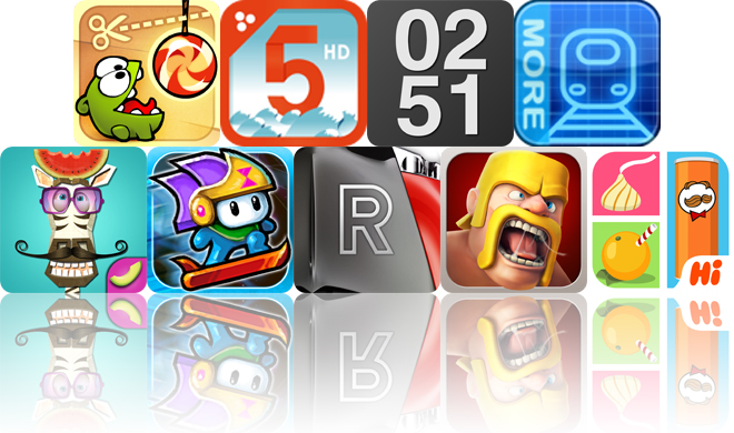 Today's Apps Gone Free: Cut The Rope, Montessori Numberland, Work Time And More