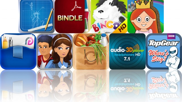Today's Apps Gone Free: Blueprint 3D, Bindle, Kids Music HD And More
