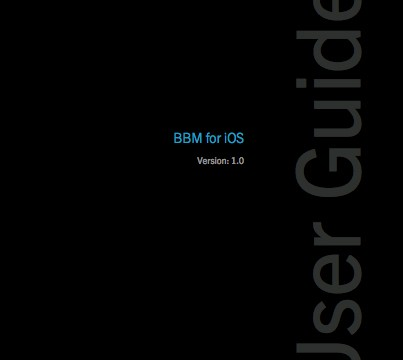 BlackBerry Accidentally Posts Comprehensive BBM For iOS User Guide