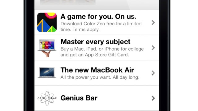 The Apple Store App For iPhone Now Features Paid Apps For Free