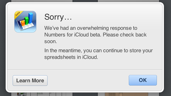 Apple Limiting Access To iWork for iCloud Beta Due To 'Overwhelming Response'