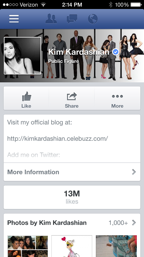 You'll Have To Be A Celebrity To Use Facebook's Newest App