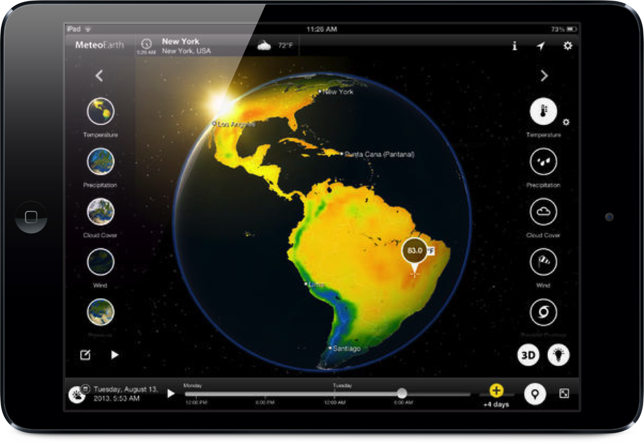 MeteoEarth For iPad Now Includes Climate Data And Other New Features